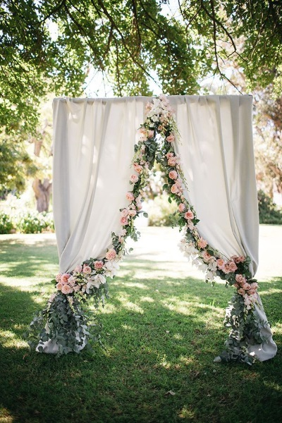 Simple wedding arch diy invitationjpg 60 best garden wedding arch decoration ideas pink lover junglespirit