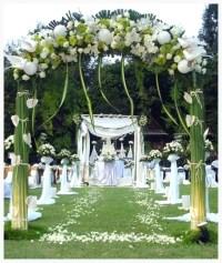 43 Best Outdoor Wedding Entrance Ideas - Pink Lover
