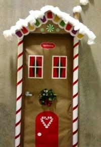 50 Christmas Door Decoration Ideas - Pink Lover