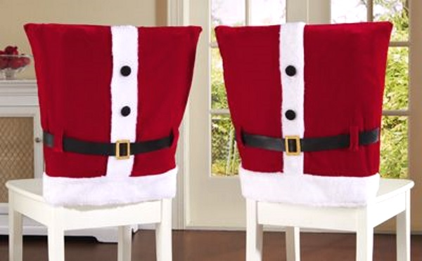 holiday decorative chair covers outdoor rocking chairs walmart 50 diy santa christmas decoration ideas - pink lover