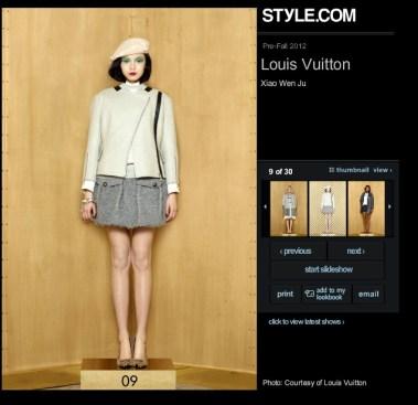 Louis Vuitton Pre-Fall 2012 09 Xiao Wen Ju