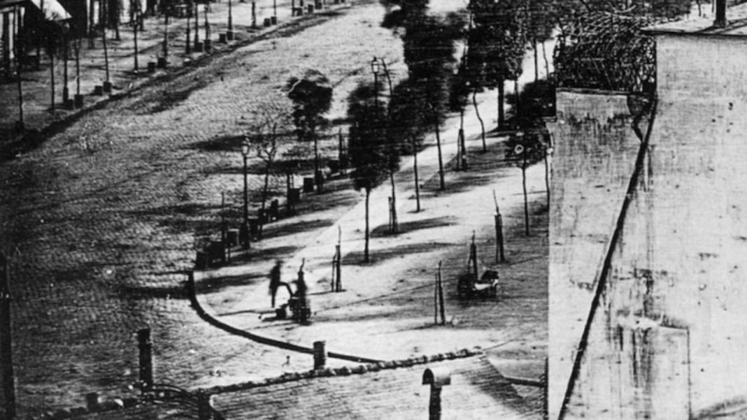 The World's First Photograph With a Human