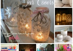 Crochet Jar Covers — 8 Free Patterns!