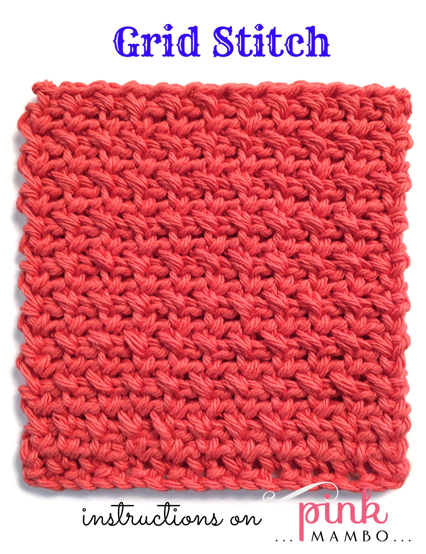 Crochet Grid Stitch Pattern Pink Mambo Squarecrochetmotifpatterndiagram