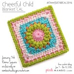 Cheerful Child Blanket Crochet Along is Here! First Three Squares