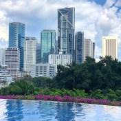 Pool deck view, Mandarin Oriental KL