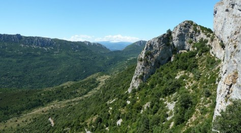 View of countryside from Peyrepertuse