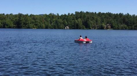 Pedal Boating Lake Mirror