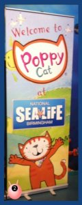 Poppy Cat welcomes you to Birmingham National Sea Life Centre