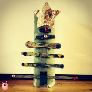 Christmas tree toilet roll holder craft
