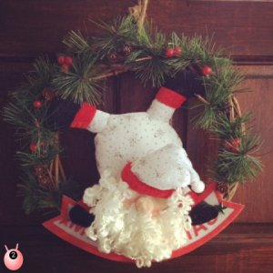 wreath and polar bear