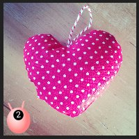 stuffed heart cushion