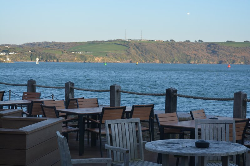 outdoor seating at Plymouth The Waterfront