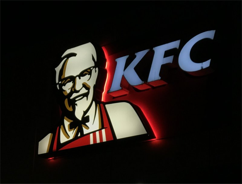 KFC illuminated sign