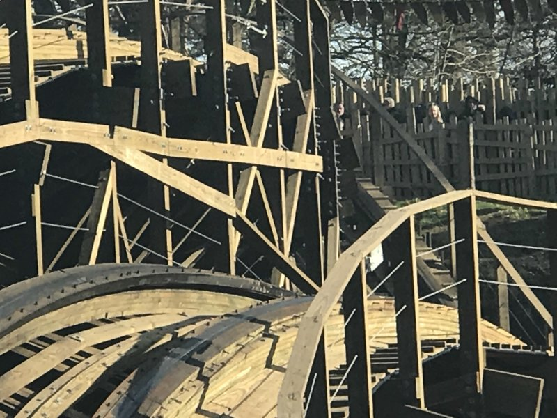 wickerman wooden rollercoaster at Alton Towers