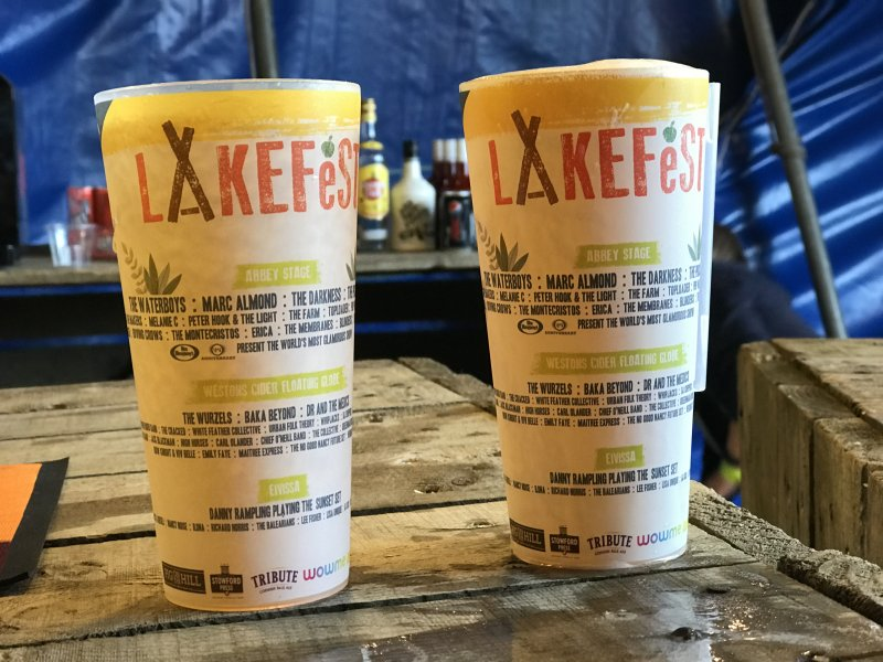 Lakefest cups 2018 on the bar