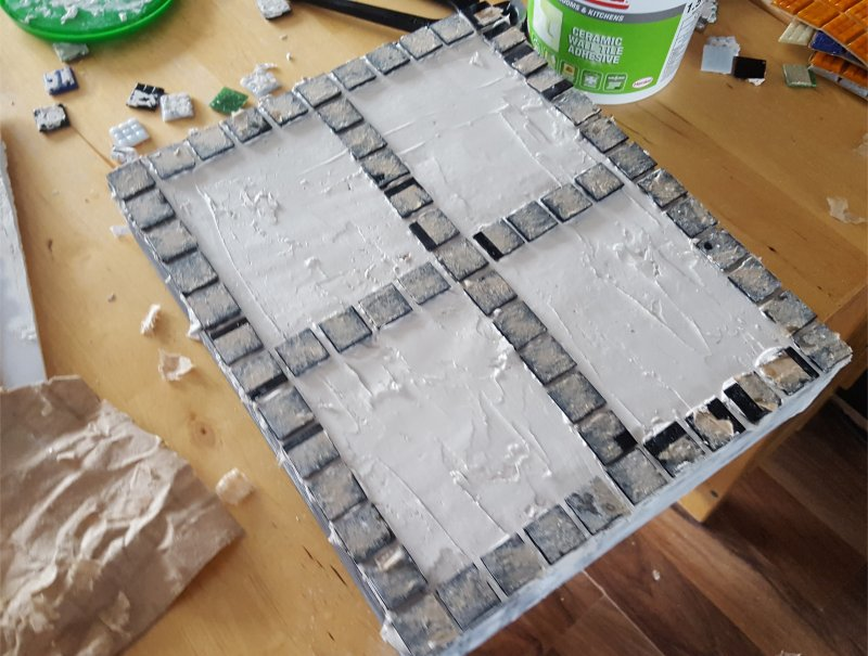 starting mosaic pattern