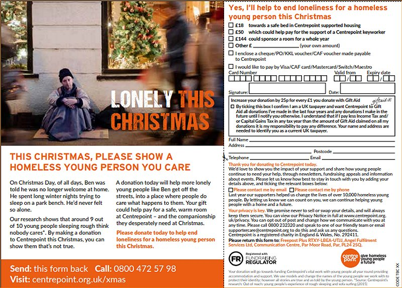 centrepoint lonely this Christmas