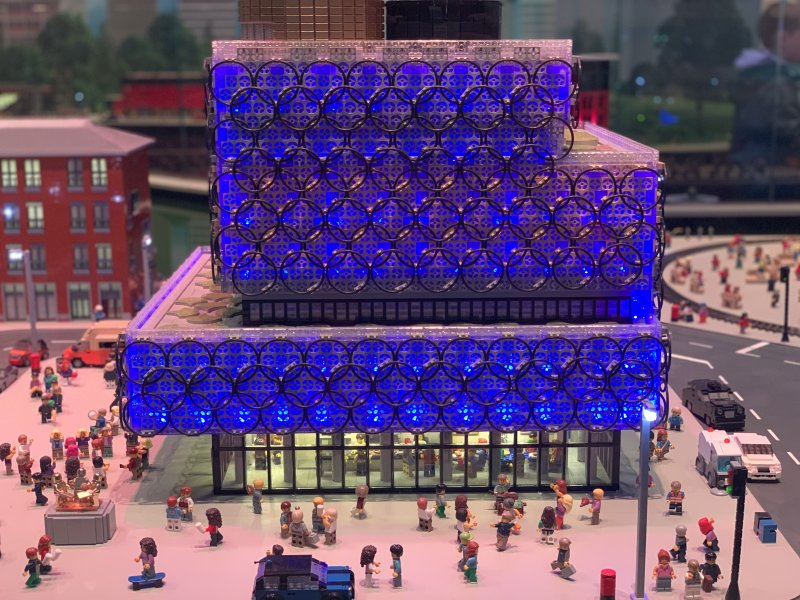 birmingham library made of lego
