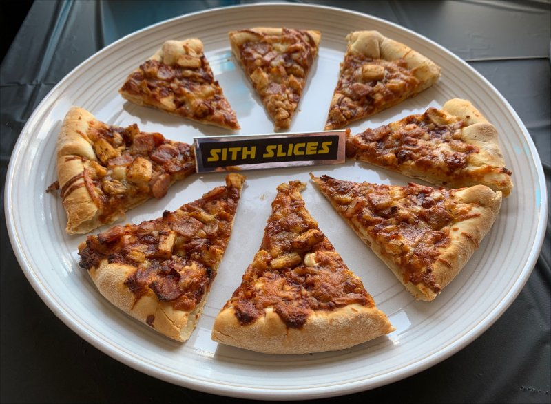 Star Wars Party Food ideas - Sith Slices for Pizza