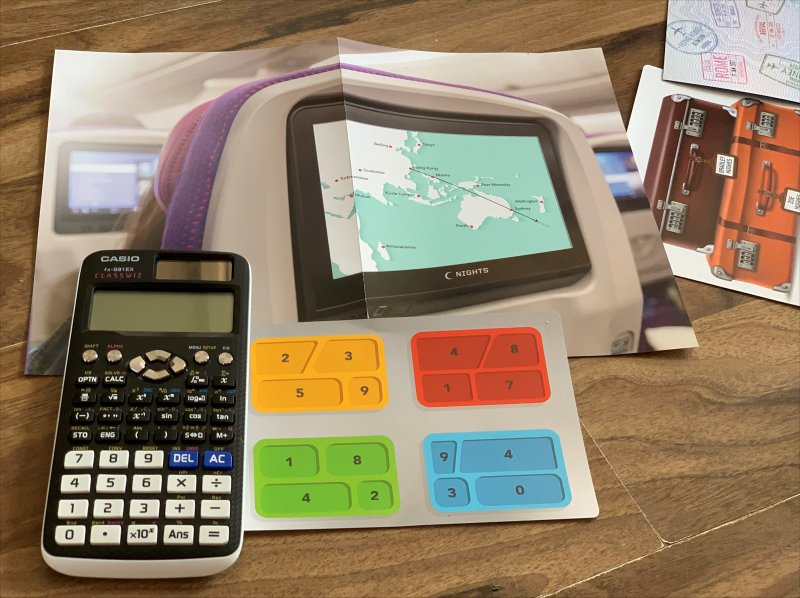 calculator to help solve puzzles in Escape room