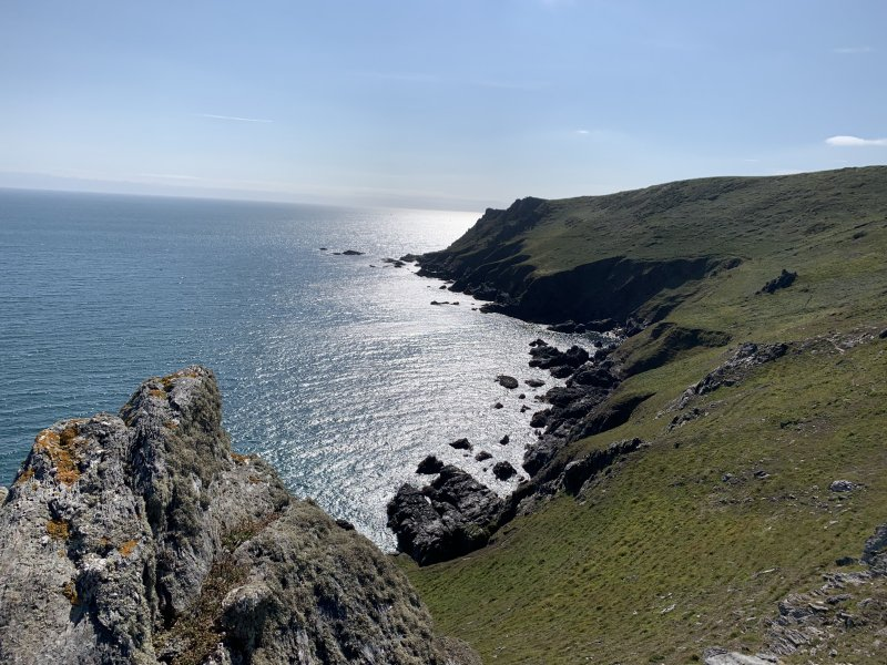 stunning views a short walk from Down Farm Wild Camping site
