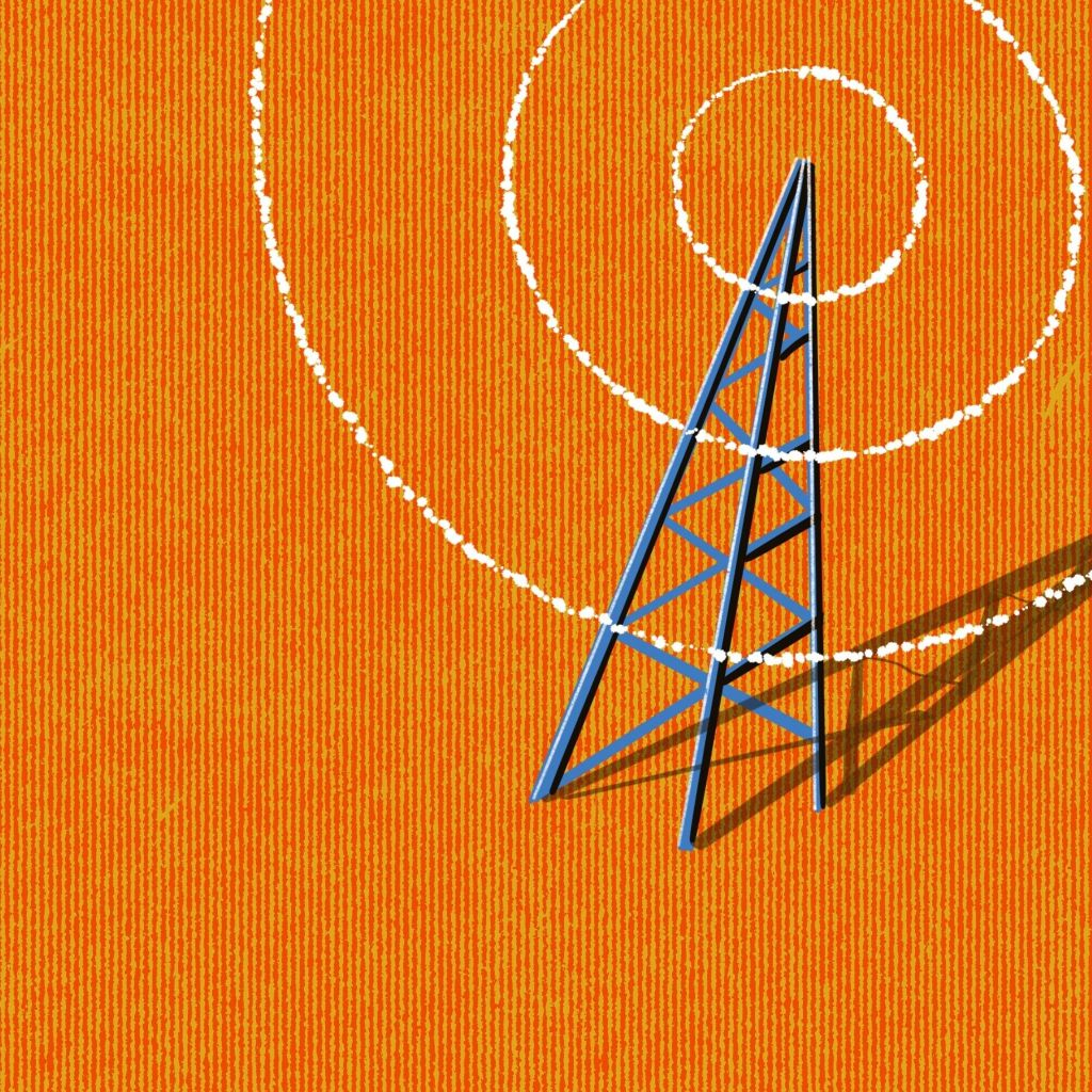 5g mobile phone tower illustration