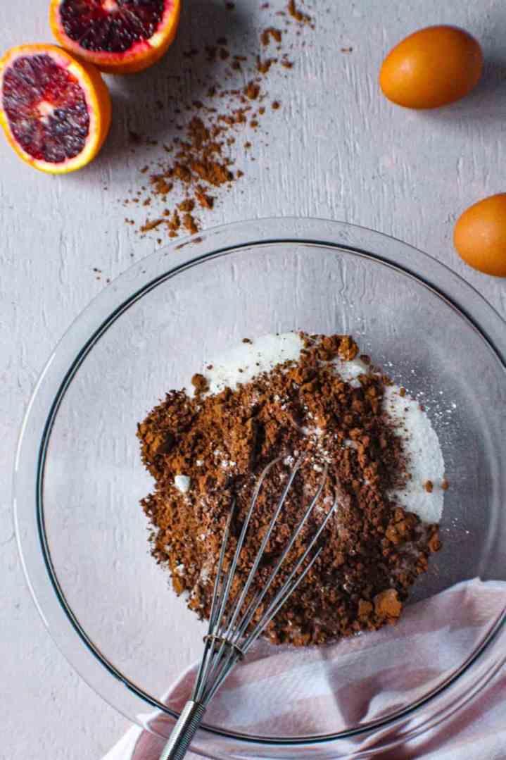brownies with blood orange glaze