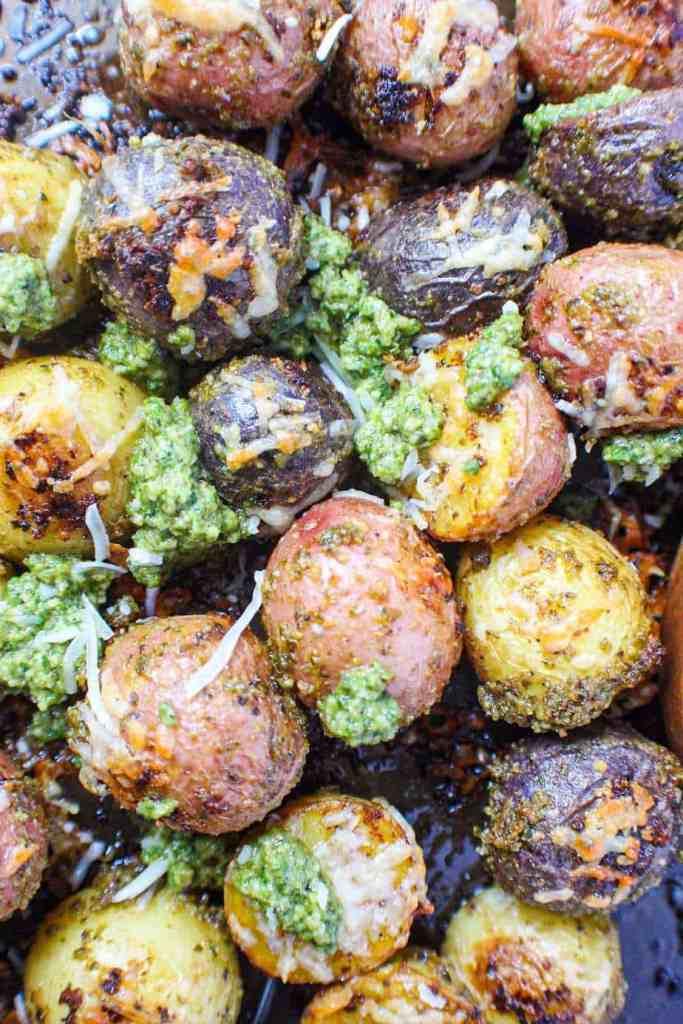 pesto parmesan potatoes
