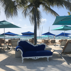 Chaise on the beach