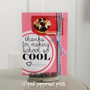 "Teacher Appreciation Free Printable ""Thanks for making school so cool"""