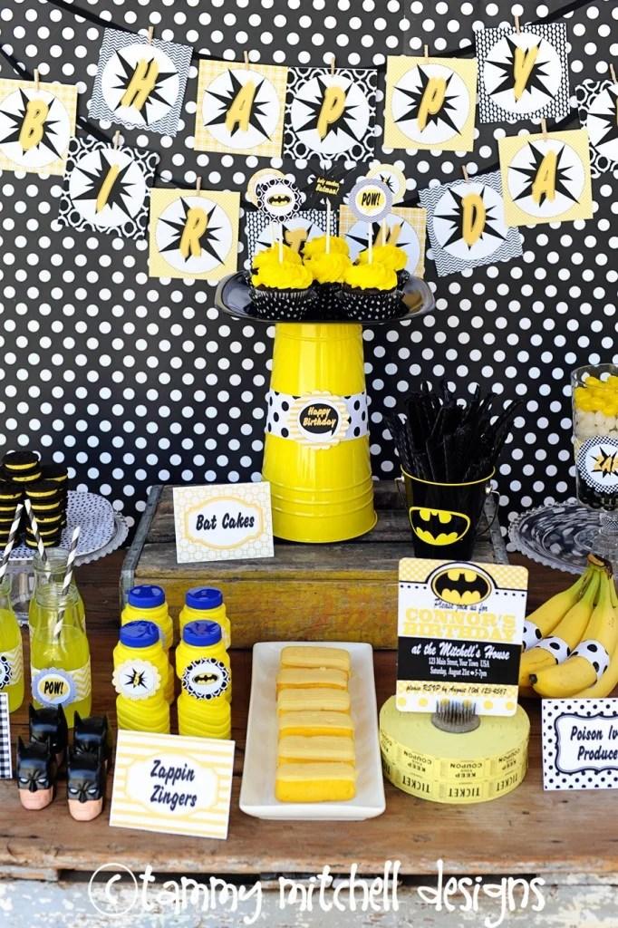 Batman party ideas DIY