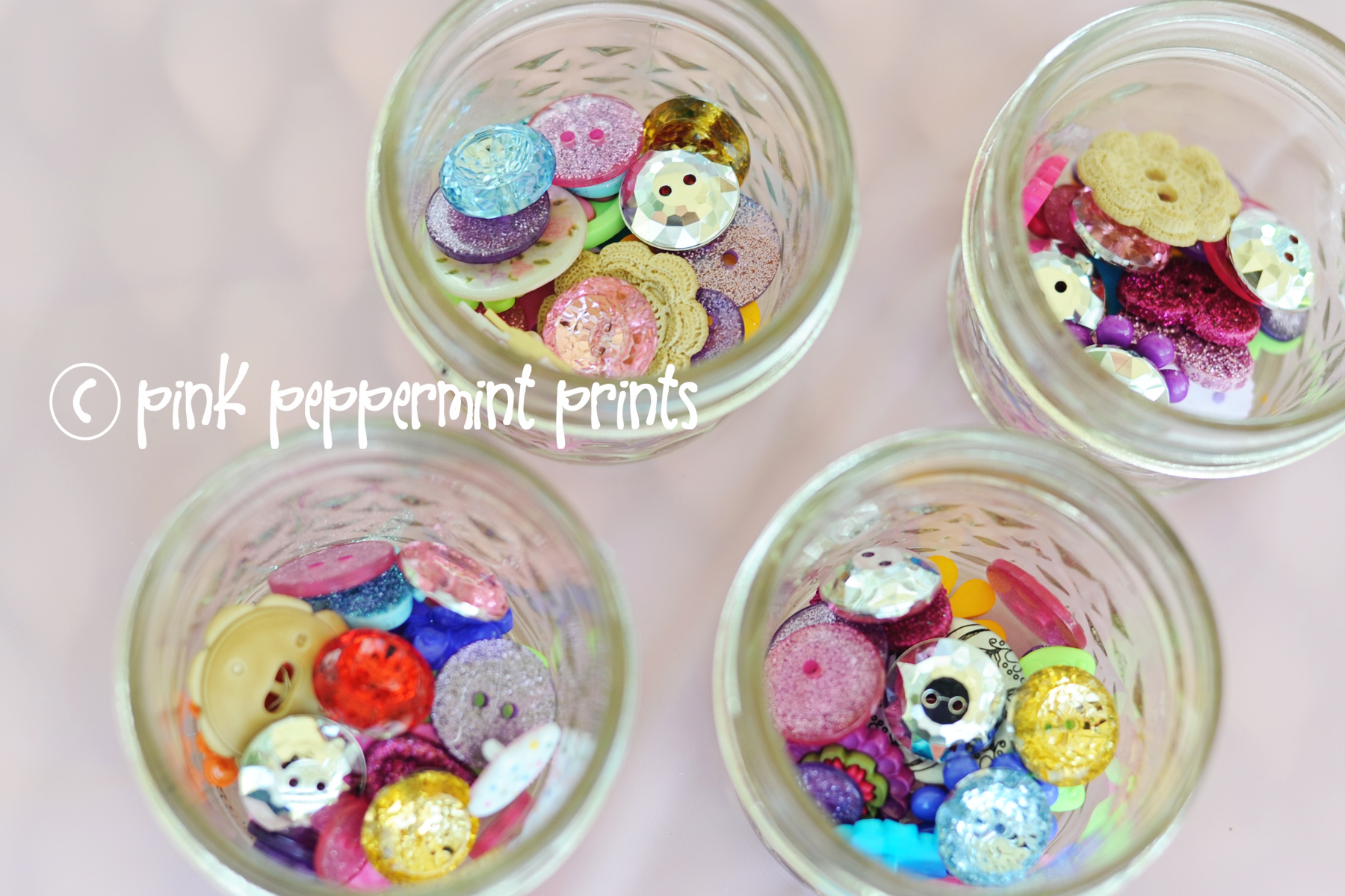 Arts and crafts button bracelet party for little girls