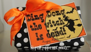 Free Printable: Ding Dong the Witch is Dead Halloween Tags