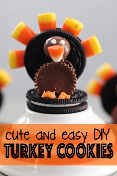 turkey cookies DIY