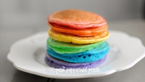 St. Patrick's Day Rainbow Pancakes