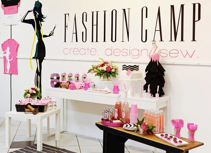 fashion camp birthday party 375
