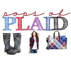 Pops of plaid header