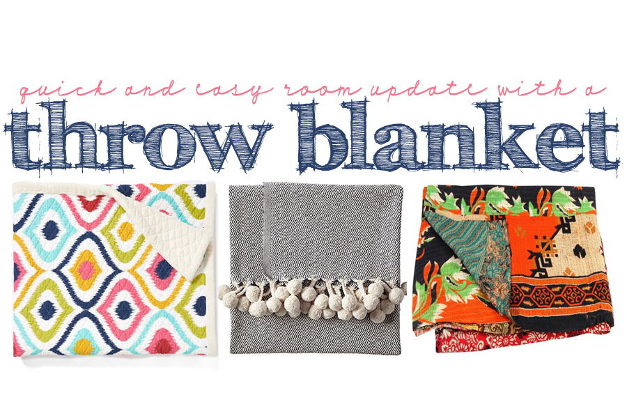 Pink Peppermint's Picks: Interior Design: Throw Blankets- A Quick and Easy Room Update