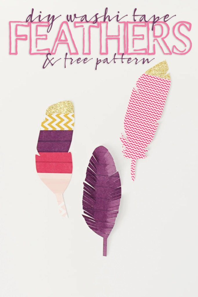 washi tape feathers