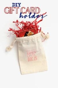 Diy christmas gift card holder