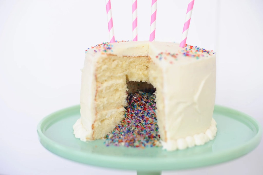confetti cake new year's eve dessert idea Pink Peppermint Design