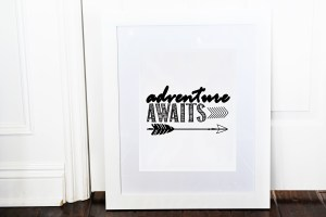 Adventure awaits framed