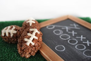 Super Bowl Party Food: Rice Krispy Footballs