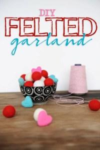 Diy felted garland