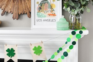 Cute and Easy Felt and Canvas Shamrock Pennant Banner