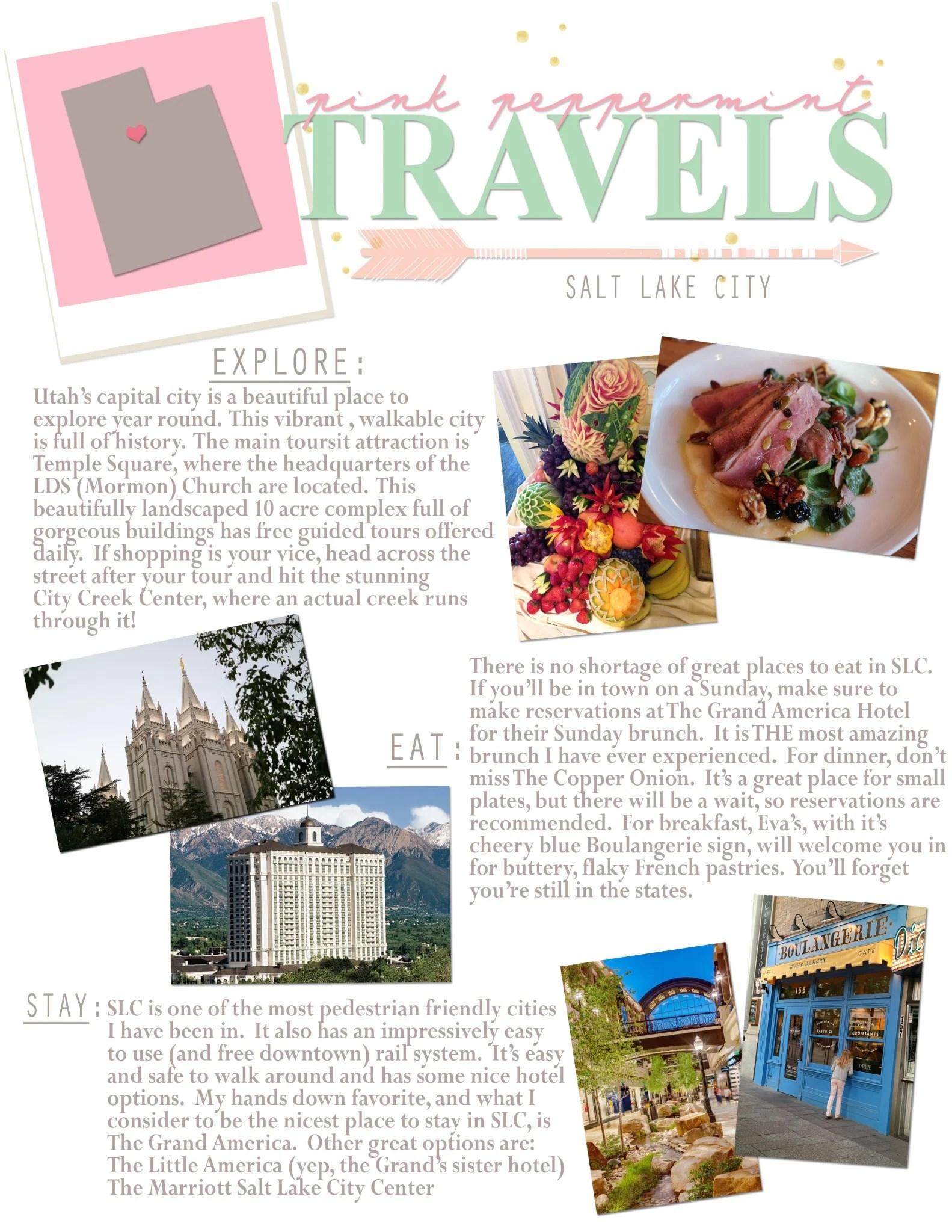 Pink Peppermint Travels: Salt Lake City, UT Travel Guide
