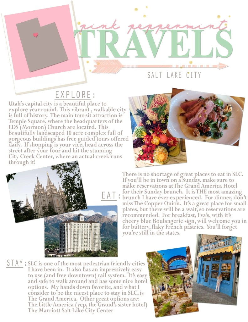 Pink Peppermint Travels Blog Salt Lake City Travel Tips