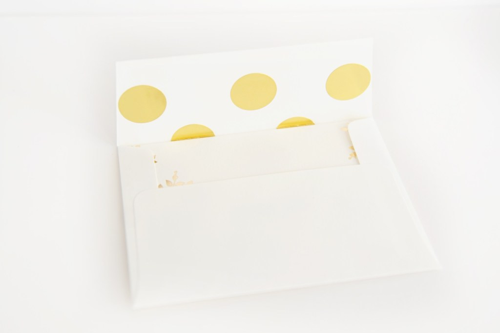DIY polka dot lined envelope