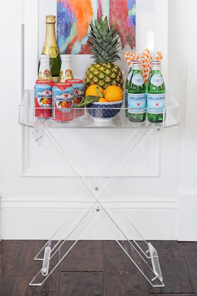 Summer Bar Cart Styling